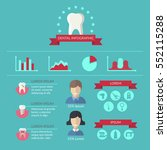dentist and teeth care vector... | Shutterstock .eps vector #552115288