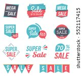 super sale and mega sale... | Shutterstock .eps vector #552117415