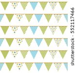 bunting seampless pattern ... | Shutterstock .eps vector #552117466