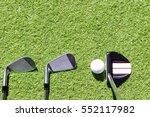 golf club  golf ball and putter ... | Shutterstock . vector #552117982