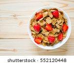 cereal breakfast with raisin... | Shutterstock . vector #552120448