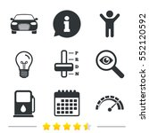 transport icons. car tachometer ... | Shutterstock .eps vector #552120592