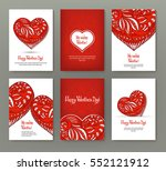 set of 6 cards or banners for... | Shutterstock .eps vector #552121912