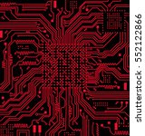 high tech circuit board vector... | Shutterstock .eps vector #552122866