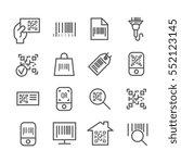 bar and qr code scanning vector ... | Shutterstock .eps vector #552123145