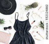 summer casual style. modern... | Shutterstock . vector #552124882