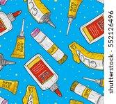 cartoon glue seamless pattern....   Shutterstock .eps vector #552126496