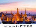 wat phra kaew landmark in... | Shutterstock . vector #552129202