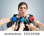 funny politician is making no... | Shutterstock . vector #552132568