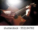 guitarist playing on stage | Shutterstock . vector #552134782