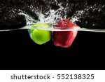Green And Red Apple Fruits...