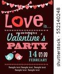 happy valentines day | Shutterstock .eps vector #552140248