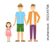 isolated gay family. two... | Shutterstock . vector #552145708