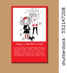 happy valentine's day greeting... | Shutterstock .eps vector #552147208
