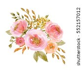 painted watercolor composition... | Shutterstock . vector #552157012
