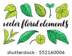 hand drawn vector floral...   Shutterstock .eps vector #552160006