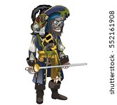 set of skeleton of pirate with...   Shutterstock .eps vector #552161908