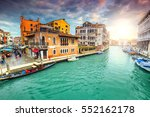 stunning colorful medieval... | Shutterstock . vector #552162178