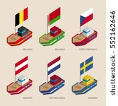 set of isometric 3d ships with... | Shutterstock .eps vector #552162646
