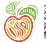 apple. vector illustration. | Shutterstock .eps vector #552164272