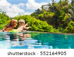 family bali beach holiday... | Shutterstock . vector #552164905