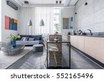 modern apartment with living... | Shutterstock . vector #552165496