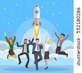 group of business people... | Shutterstock .eps vector #552180286