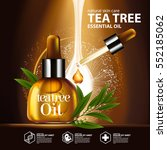 tea tree oil  nature cosmetic... | Shutterstock .eps vector #552185062