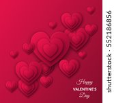 happy valentines day ... | Shutterstock .eps vector #552186856