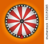 color lucky wheel template.... | Shutterstock .eps vector #552192085
