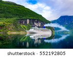 cruise ship  cruise liners on... | Shutterstock . vector #552192805