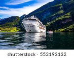 cruise ship  cruise liners on... | Shutterstock . vector #552193132