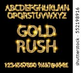 gold rush. gold alphabets and... | Shutterstock .eps vector #552198916