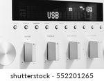 sound amplifier receiver front... | Shutterstock . vector #552201265