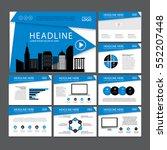 business template design set... | Shutterstock .eps vector #552207448
