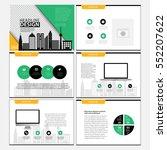 business template design set...