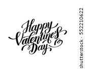 happy valentines day... | Shutterstock . vector #552210622