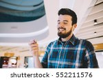 portrait of a young handsome... | Shutterstock . vector #552211576