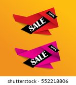 sale banner or tag in red and... | Shutterstock .eps vector #552218806