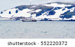 antarctica landscape background ... | Shutterstock . vector #552220372