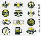 colored retro beer and brewery... | Shutterstock .eps vector #552221482
