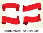 vector ribbon banners.set of... | Shutterstock .eps vector #552221635