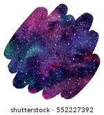 Cosmic Background. Colorful...