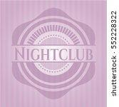 nightclub retro style pink...   Shutterstock .eps vector #552228322