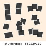 photo frames set. photo frame... | Shutterstock .eps vector #552229192