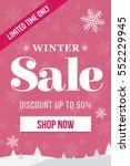 winter sale mobile banner.... | Shutterstock .eps vector #552229945
