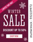winter sale mobile banner.... | Shutterstock .eps vector #552229972