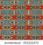 tribal seamless pattern.... | Shutterstock .eps vector #552231472