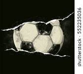 soccer ball behind a rip | Shutterstock .eps vector #552235036