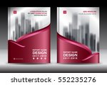 brochure template layout  red... | Shutterstock .eps vector #552235276